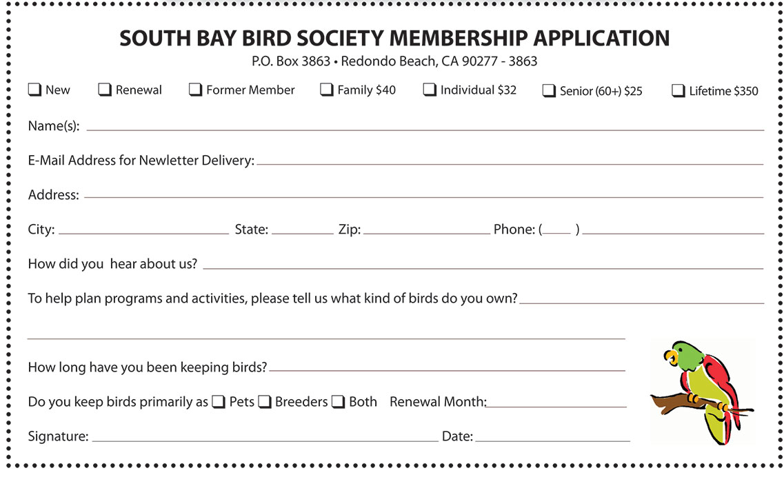 SBBS Membership Applicationj