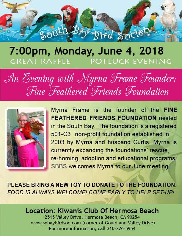 Myrna Frame, Fine Feathered Friends Foundation